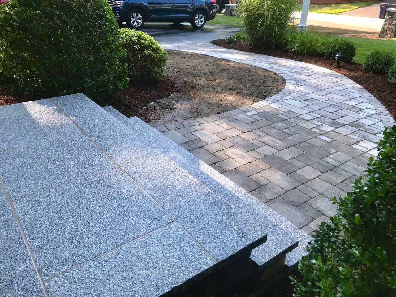 Stone Steps   Hopkinton Landscape Design, Patio Construction
